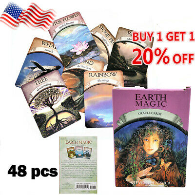 Magic Oracle Cards Earth Magic Read Fate Tarot 48-card Deck And Guidebook USA
