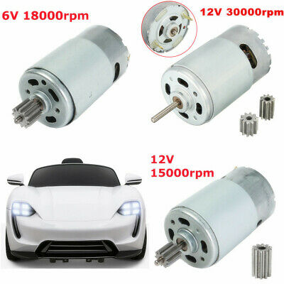 15000/18000/30000RPM Electric Motor Gear For Kids Ride On Bike Car toy 6V/12V