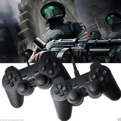 2X Wired Gamepad Game Controller Joypad USB 2.0 For Laptop PC Computer PS2 V5U2E