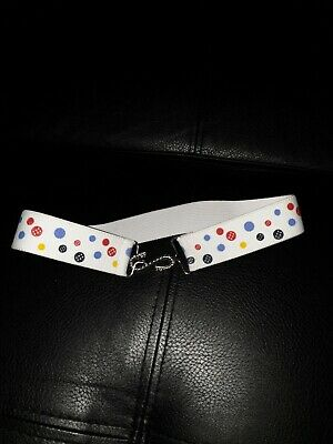 Marks And Spencer Uk Girls Size 4 - 6 Years  Elasticated Polkadot Belt