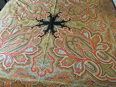 Vintage cotton paisley floral geometric tablecloth bead spread wall hanging Boho