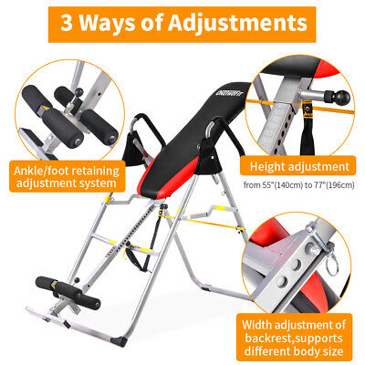 Foldable OneTwoFitOT079 Gravity Inversion Table Back Therapy Fitness Reflexology