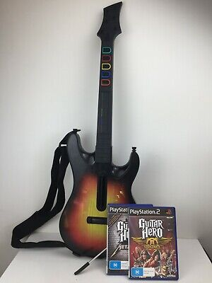 Guitar Hero - Wireless Controller - PS2 - Sunburst - With 2 x Games - No Dongle