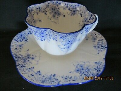 Shelley Dainty Blue Cup And Saucer