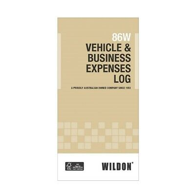 Wildon 86W Vehicle & Business Expenses Record Book 210 x 105mm