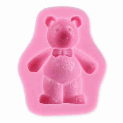 3D Teddy Bear Silicone Fondant Mold Cake Soap Chocolate Baking Mould UKstock