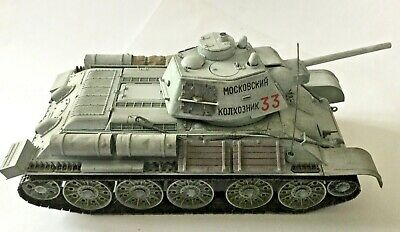 1/35 built/painted Russian T34-76 Winter Camouflage WW2
