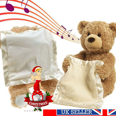 30cm Peek A Boo Teddy Bear Plush Interactive Soft Toy For Childs Christmas Gift