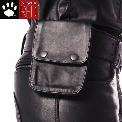 Prowler RED Leather Wallet Black - CLIP TO BELT OR BICEP BAND