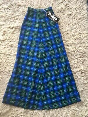 Vintage New Old Stock Plaid Maxi Skirt