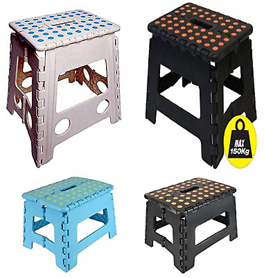 Plastic Foldable Step Stool Multi-Purpose Easy Storage Step Ladder Small Large