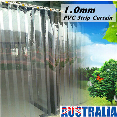 6 Roll 79''X7'' PVC Plastic Strip Curtain Freezer Door Strip Hanging Overlap Kit