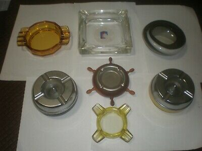 Collection of 6 Vintage Ashtrays