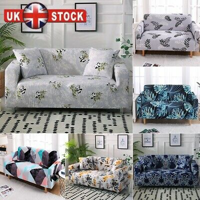 3/4 Seater Leaf Elastic Sofa Covers Slipcover Settee Stretch Couch Protector