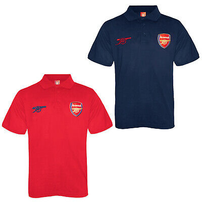 Arsenal FC Official Football Gift Mens Crest Polo Shirt