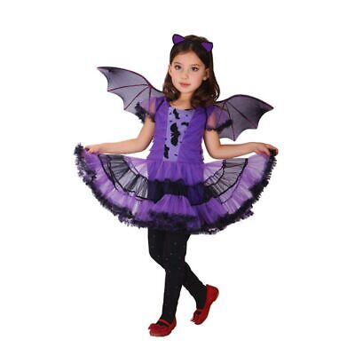 Kids Girls Witch Vampire Cosplay Fancy Dress Halloween Party Costume Outfit AU