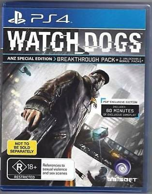 Watch Dogs: Special Edition, PlayStation 4 (PS4) ***BRAND NEW FACTORY SEALED***