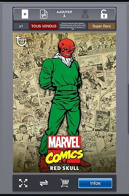 Topps Marvel Collect Digital Classic Box : RED SKULL (COLOR)  500 CC