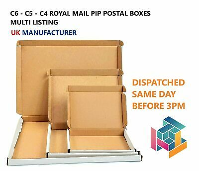 White Royal Mail PIP Large Letter Postal Boxes C4 C5 C6 FROM UK MANUFACTURER