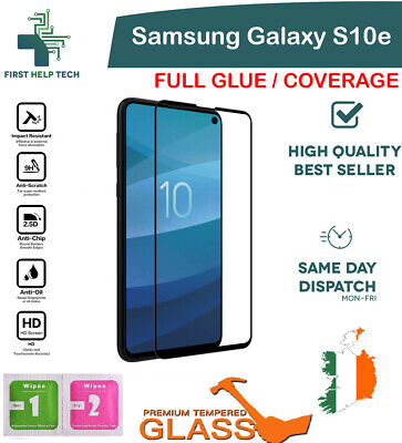 For Samsung Galaxy S10e Tempered Glass 9D Curved Screen Protector Full Coverage