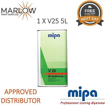 Mipa 271050000 V25 Normal 2K Thinner Reducer 5Ltr *Next Day Delivery*