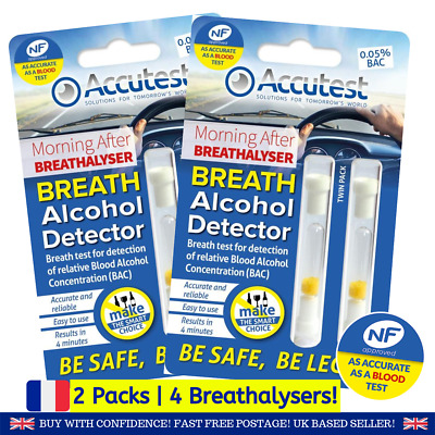 Disposable Alcohol Breathalyser Certified Breath Kit France French UK new Bkit