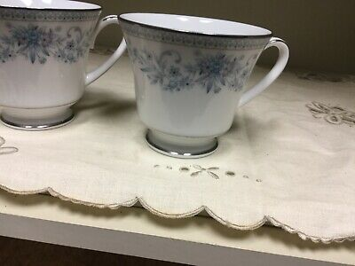 Vintage Contemporary Fine China NORITAKE BLUE HILL 2482 Tea Cups set of 6