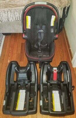 Graco SnugRide Click Connect 35 Infant Baby Safety Car Seat Base & Canopy