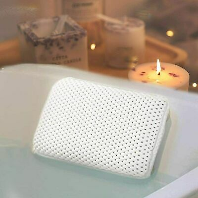 Cushioned Bath Pillow With 8 Slip Resistant Suction Cups Bathroom Accessories