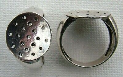 Sterling Silver Ring Beadable Sieve