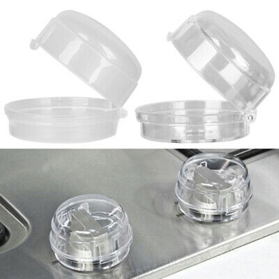 Plastic Kitchen Knob Cover Gas Stove Protector Child Protection Oven Lock Lid