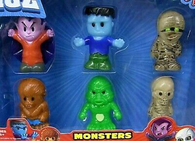 Little Figz Monsters Dracula Mummy Frankenstein Creature Lagoon WolfMan Skeleton