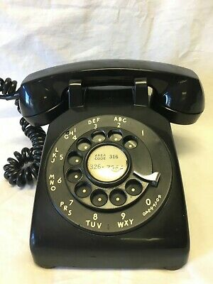 Vintage Western Electric Black Rotary Desk Phone - C/D 500 - Untested
