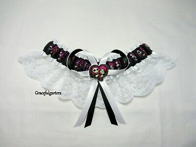 Jack & Sally Nightmare Before Christmas Lace Bridal Wedding Garter.