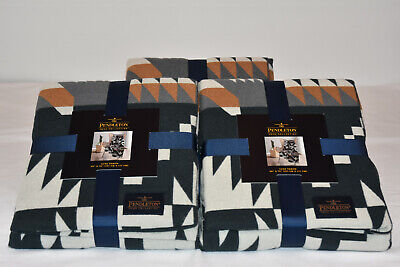 Pendleton Home Collection Throw Luxe Black Multi Ships USPS Priority Box