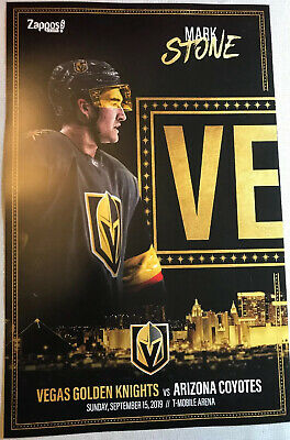 Vegas Golden Knights Mark Stone vs AZ Coyotes 9/15/19 1st Pre Season Poster Yr 3