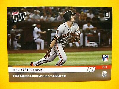 2019 Topps Now MIKE YASTRZEMSKI RC #698, 1st Career 3-HR Game Aug 16th MINT Cond