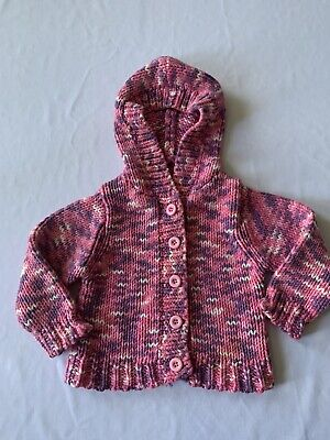 St Bernard For Dunnes Stores Girls Multicolor Cotton Sweater Size 12-18 Months