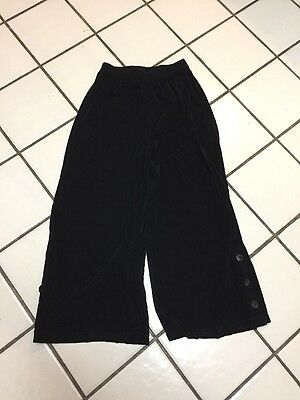 TRAVELERS CHICO'S Black Slinky Acetate Stretch Pull-On Cropped Pants Sz 0 (4)