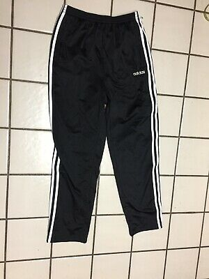 ADIDAS Tear Away Pants mens L Black Basketball Athletic Track sport