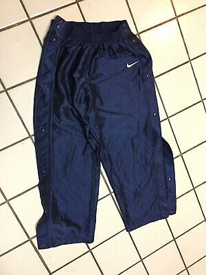 NIKE Blue pants Athletic Tear Away Side Snap  BASKETBALL Mens XL ribbed