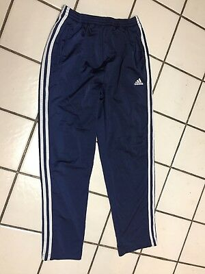 ADIDAS 3 STRIPE Blue Athletic Tear Away Side Snap Pants BASKETBALL Mens S small