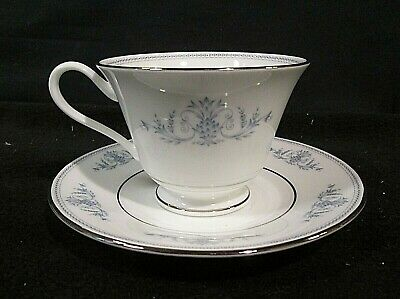 Oxford Bone China By Lenox BRYN MAWR Footed Cup & Saucer Set