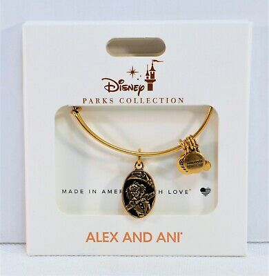 Disney Alex & Ani 2019 Gold Bangle Bracelet Haunted Mansion 50th Anniversary NEW