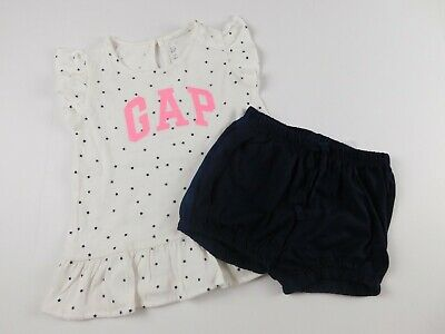 NWT Gap Baby Toddler Girl's 2 Pc Outfit Top Tunic/Bubble Shorts  3Yr New MSRP$30