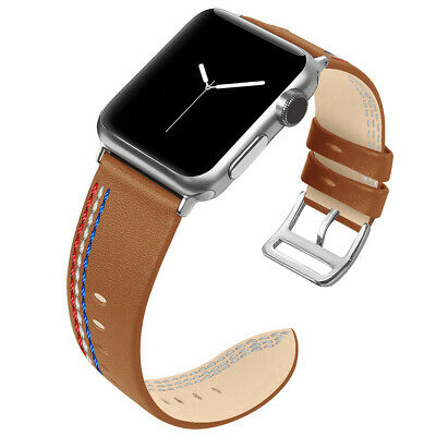38/40mm 42/44mm Genuine Leather Apple Watch Band Strap For iWatch Series 5 4 3 2