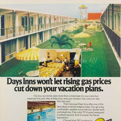 1979 Days Inn Motel Hotel Family Vacation Pool Road Trip Travel 1970s vintage ad
