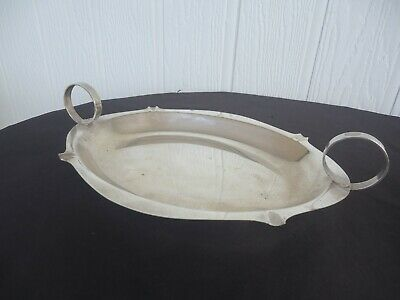 vintage antique imperial A1 silver plate serving tray dish twin handle platter