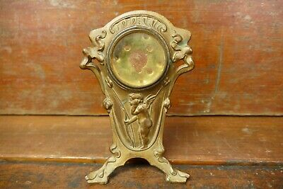 """Antique Victorian Style Cherub Design Mantle Clock Bade - 7"""" Tall - Project"""