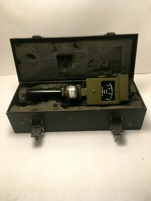 US Army Signal Corps. Anemometer - Velometer Jr w/ Case, Handle and Compass
